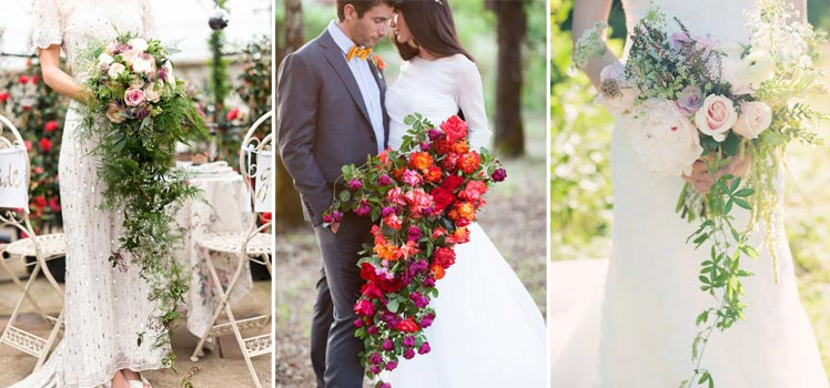Cascading bouquet ideas for your vintage wedding