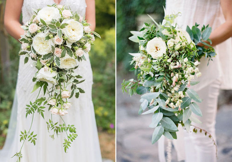 cascading and waterfall bouquets