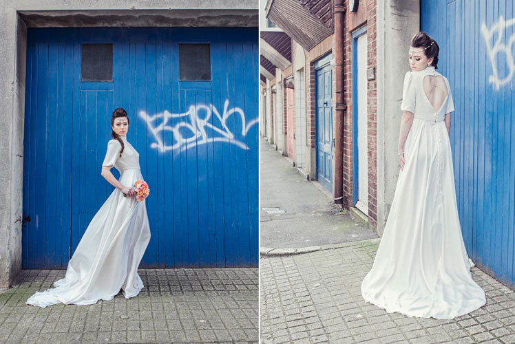 Urban influences for Charlotte's bridal photo shoot