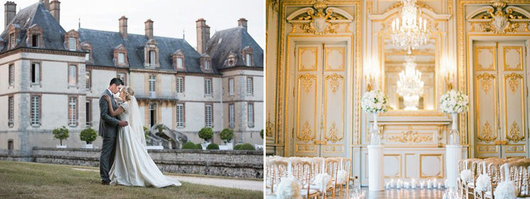 Chateau de Bourron and Shangri La - Paris wedding venues