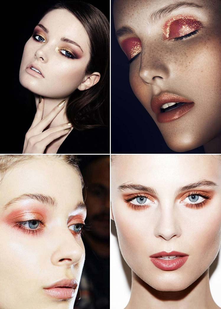 fabulous copper christmas make up ideas