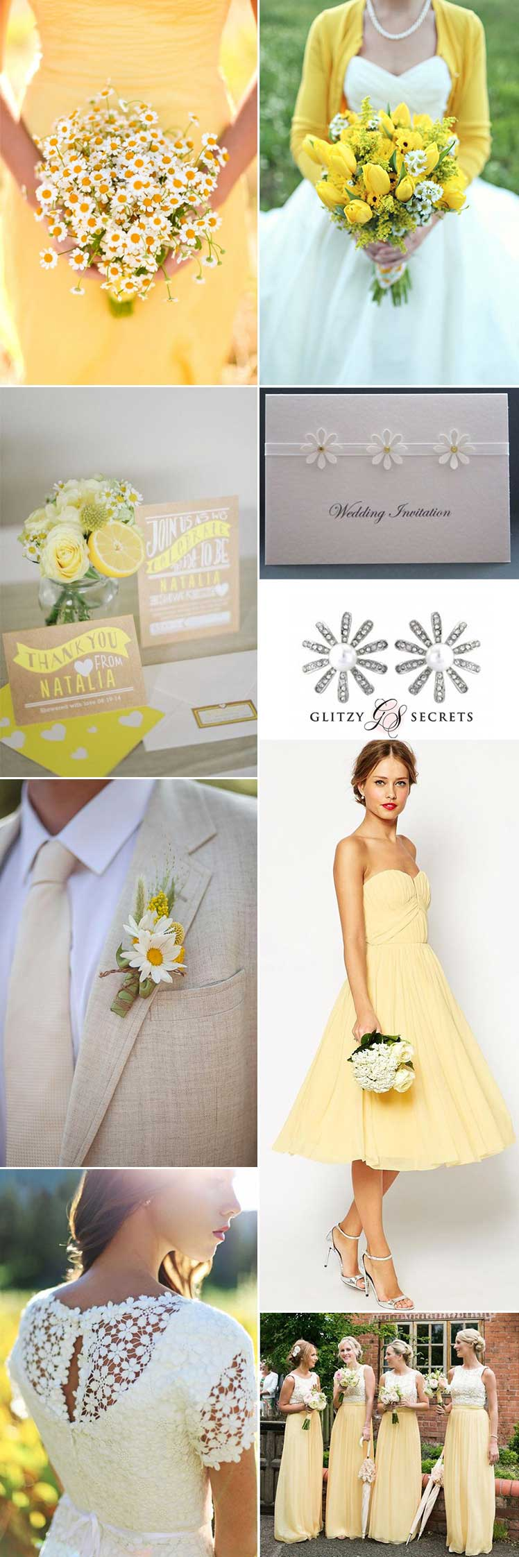 a pretty daisy wedding theme