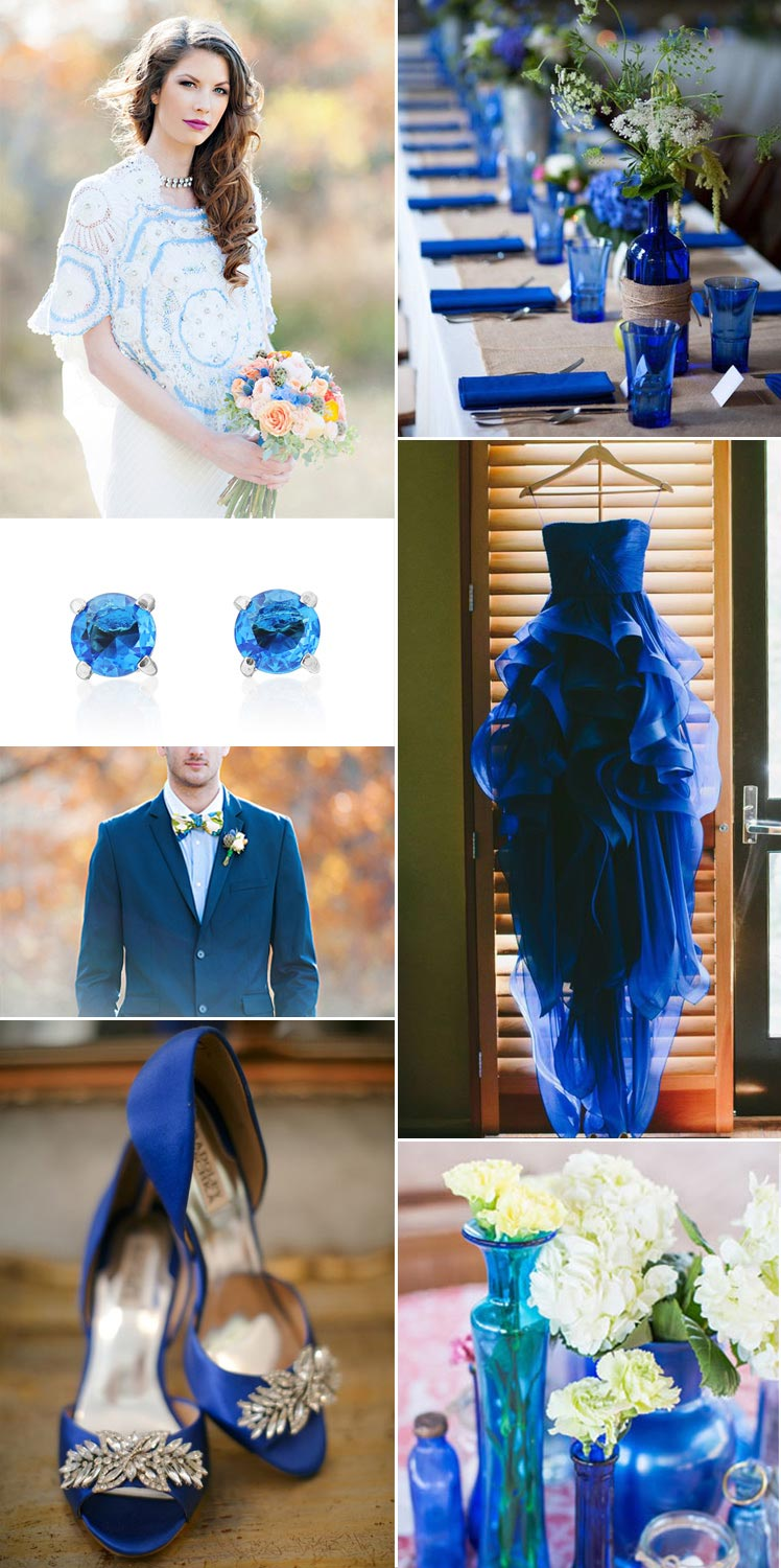 December's topaz birthstone wedding theme ideas