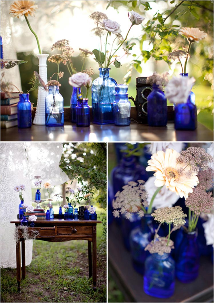 Topaz blue wedding decor ideas