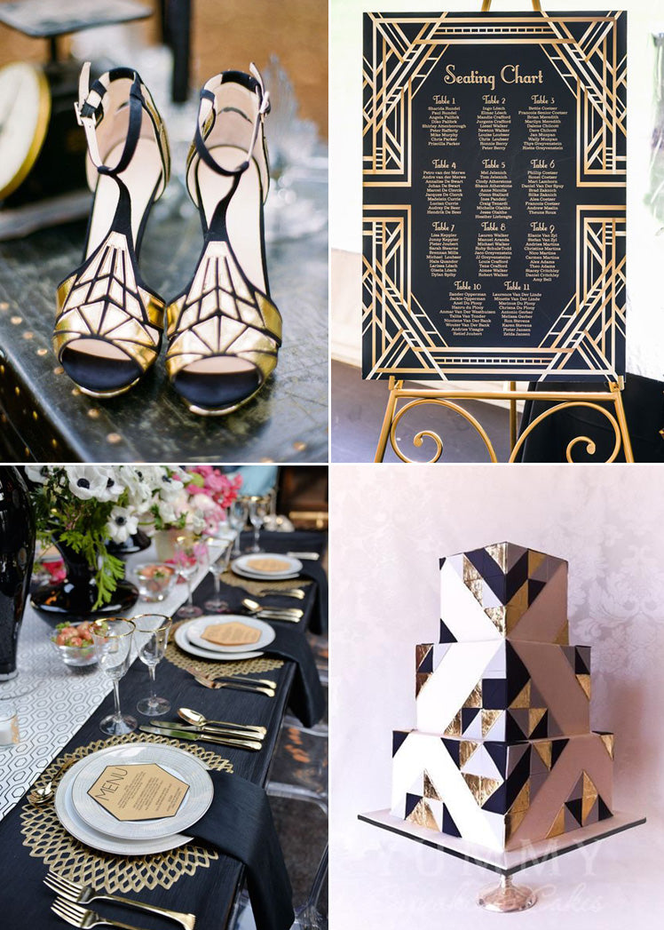 Art Deco geometric wedding theme ideas