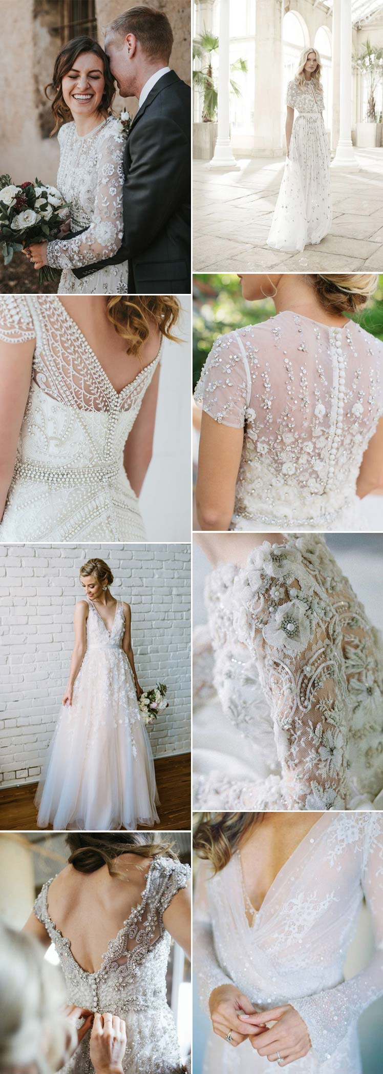 heavily detailed wedding dresses
