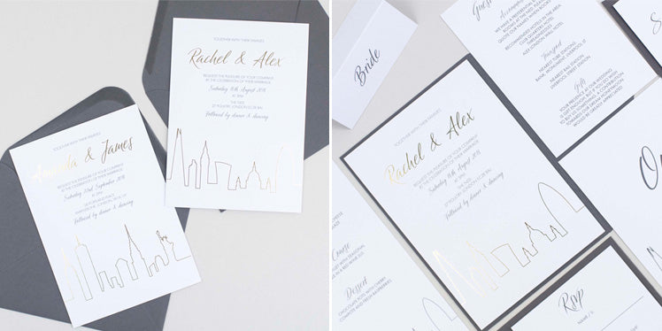 Dimitria Jordan wedding invitations