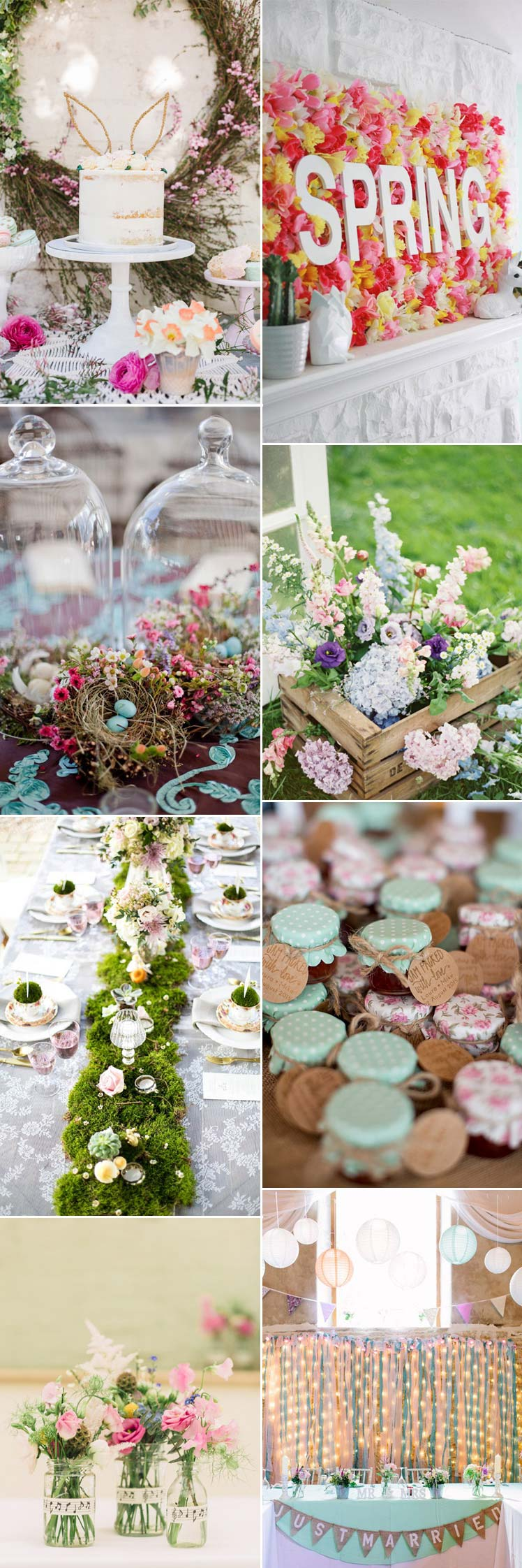 Beatuiful pastel Easter wedding ideas
