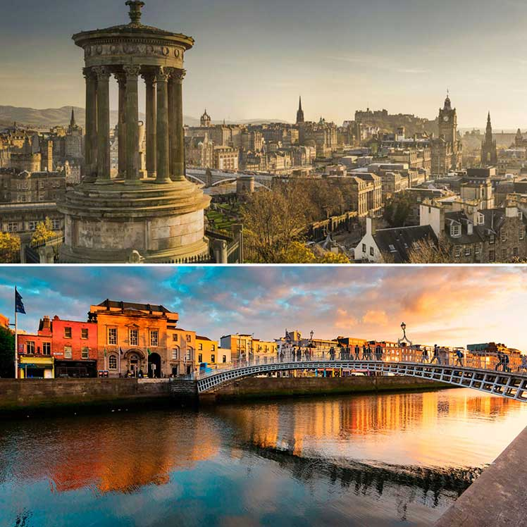 Edinburgh and Dublin