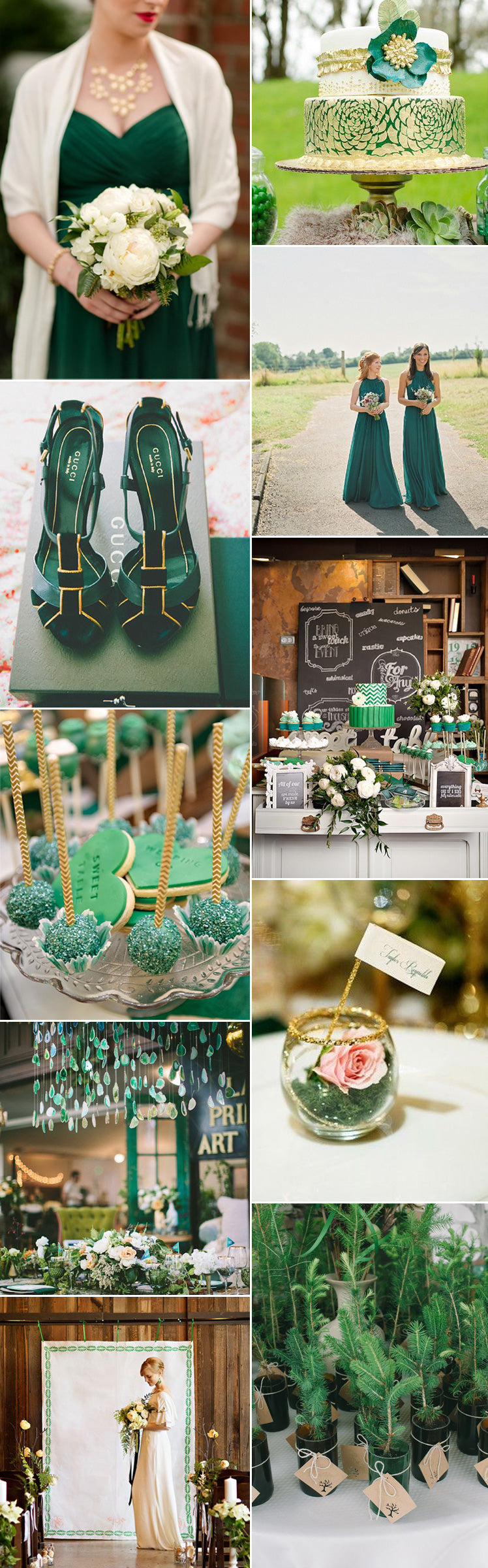 Sensational emerald green wedding ideas