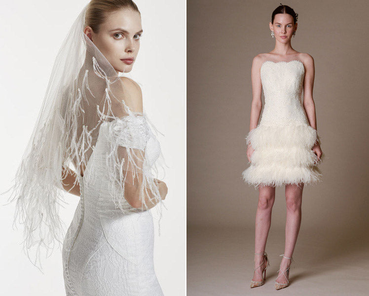Fabulous feathers for your wedding day style