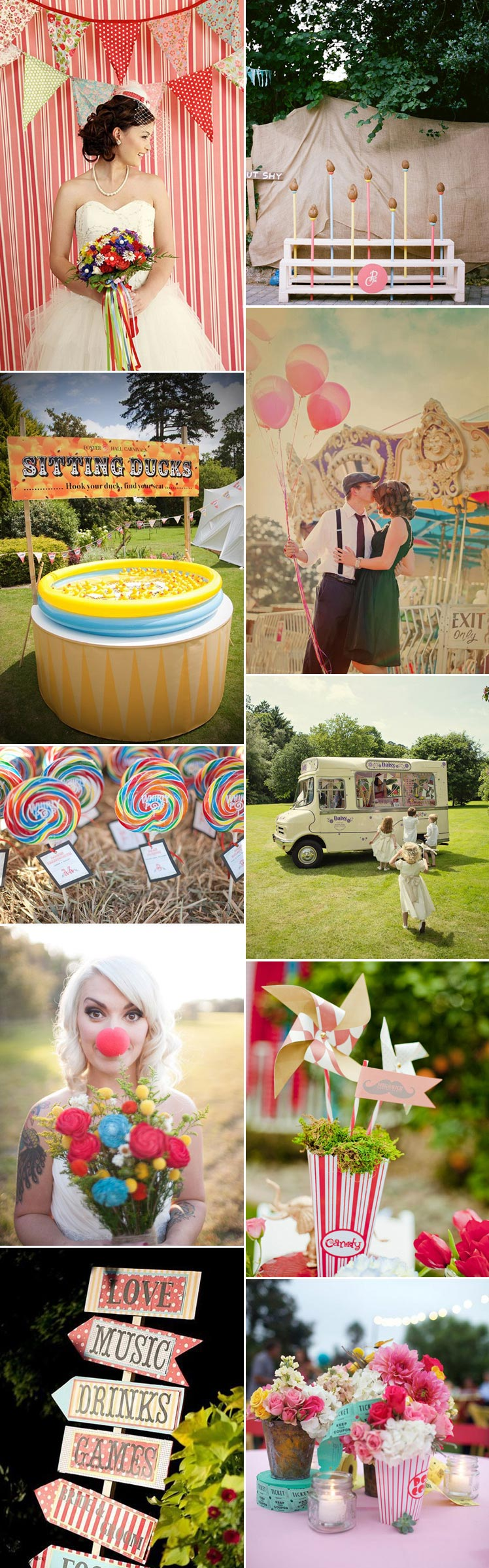 Fairground wedding theme inspiration