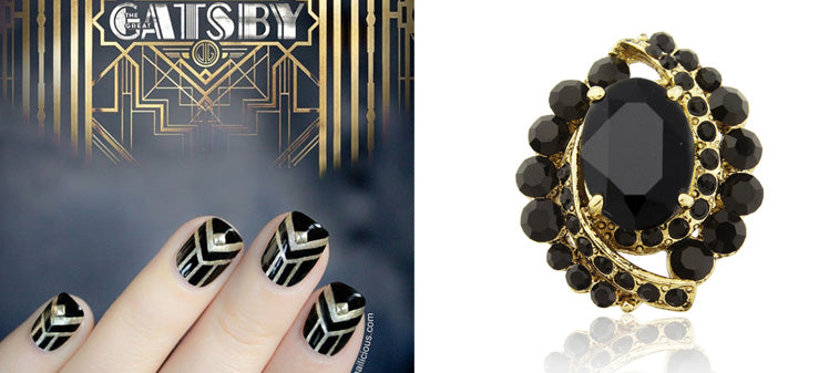Gatsby Drama Cocktail Ring - Glitzy Secrets