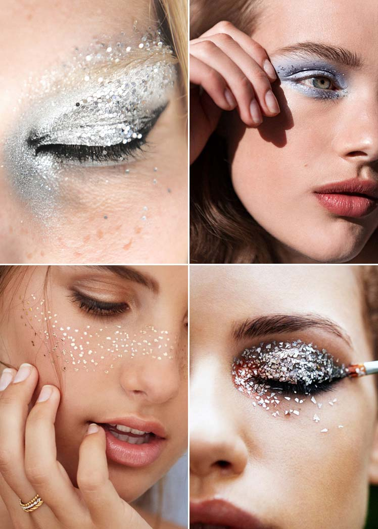 grown up glitter christmas make up
