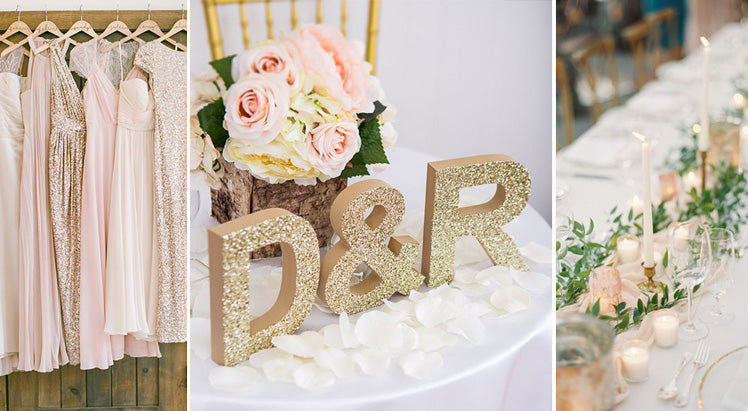 an opulent gold wedding theme