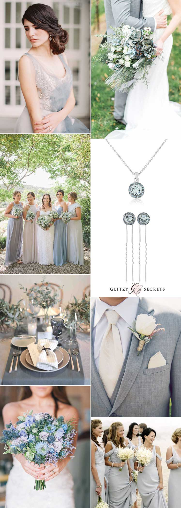 beautiful dusty blue and grey wedding inspiration