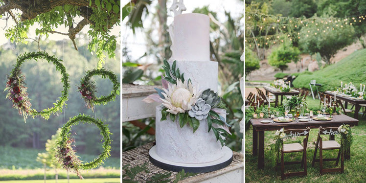 Green boho wedding ideas