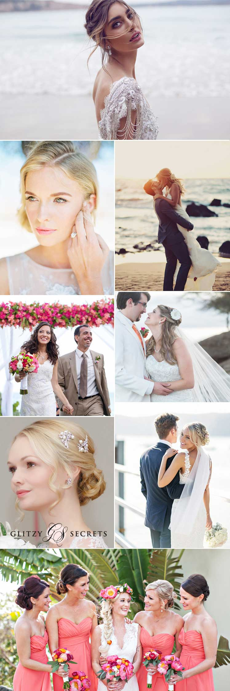 Hair and make-up ideas for a destination wedding