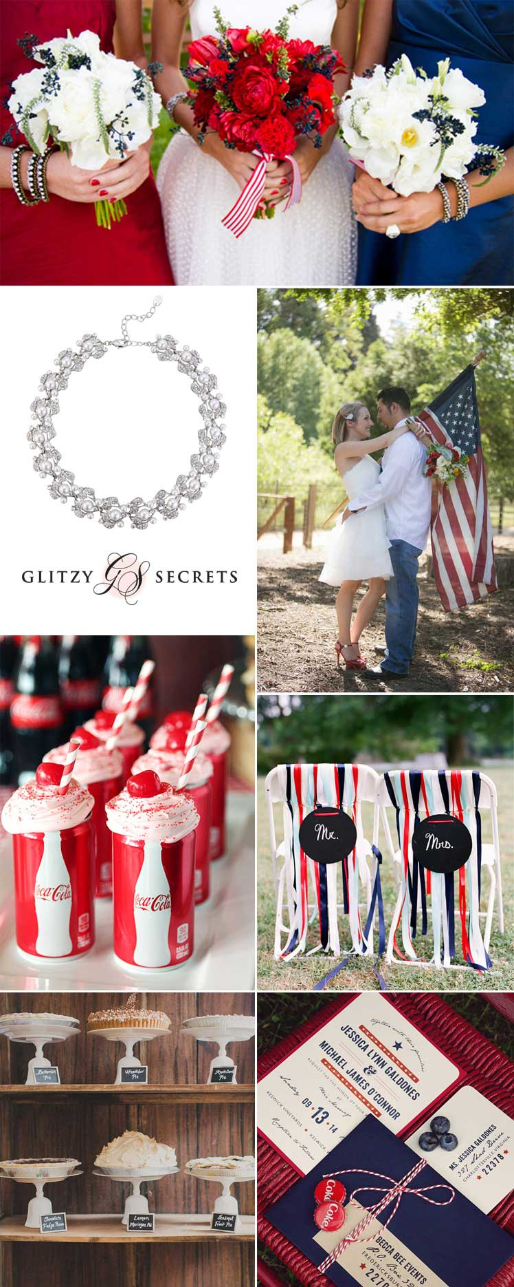 Independence day wedding inspiration