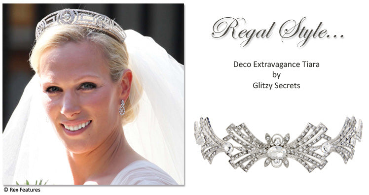Deco Extravagance Tiara with both Greek and Art Deco influences
