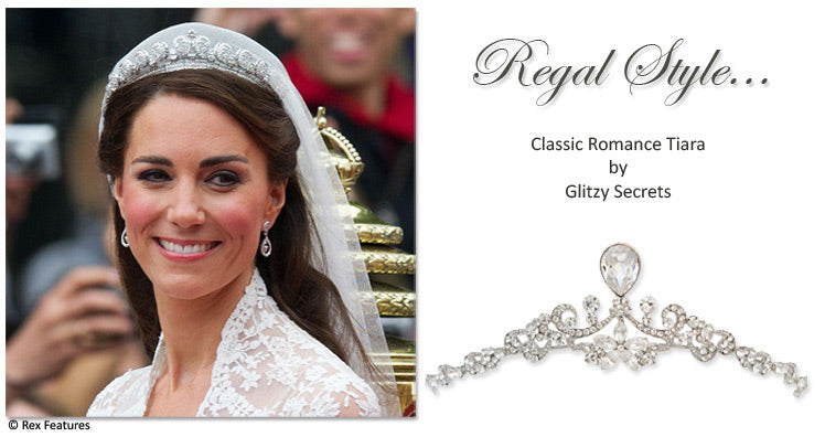 Steal Kate's style with our Classic Romance Tiara