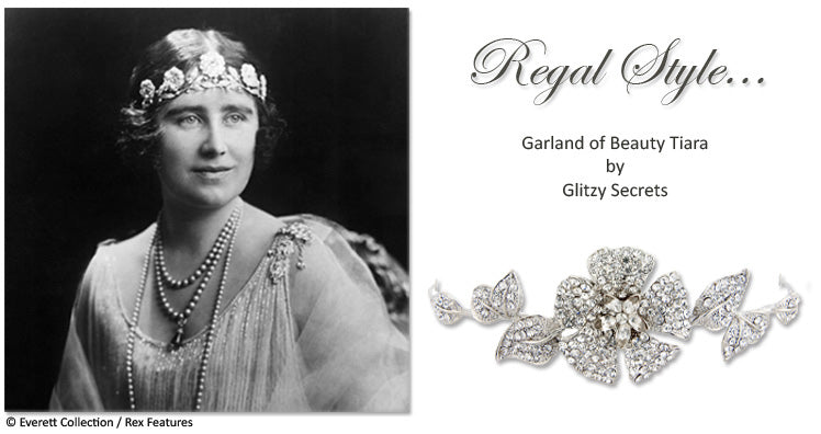The Queen Mother wears The Strathmore Rose Tiara