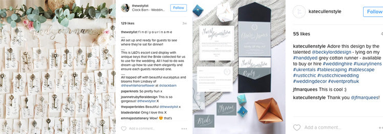 Instagram Accounts - Kate Cullen and The Wedding Helper