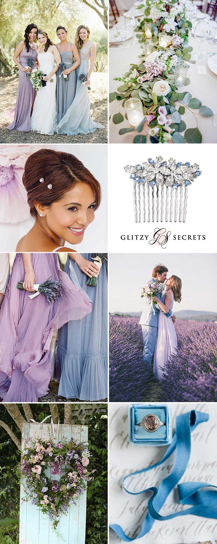 Lilac and Blue wedding inspiration