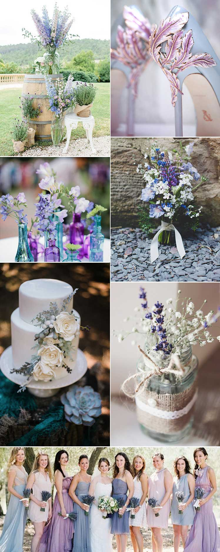Lilac and Blue themed wedding ideas