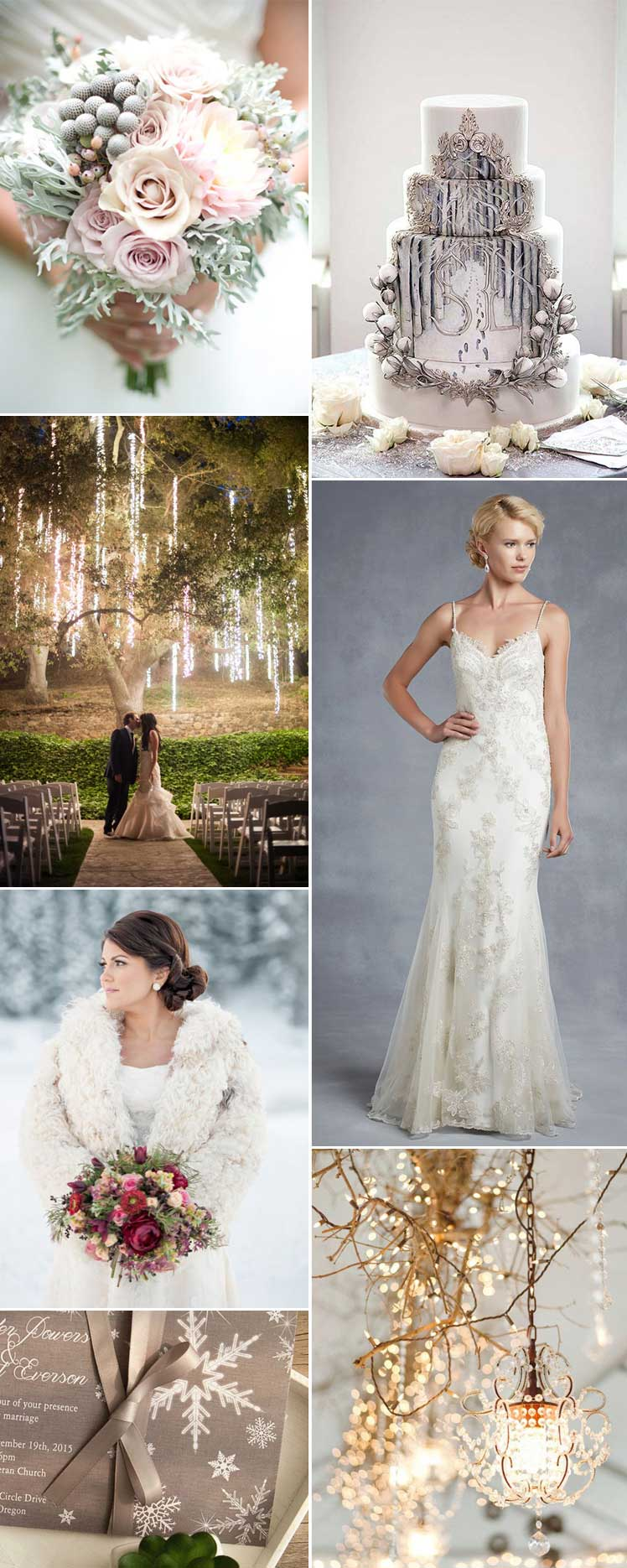 Winter wonderland magical wedding inspiration