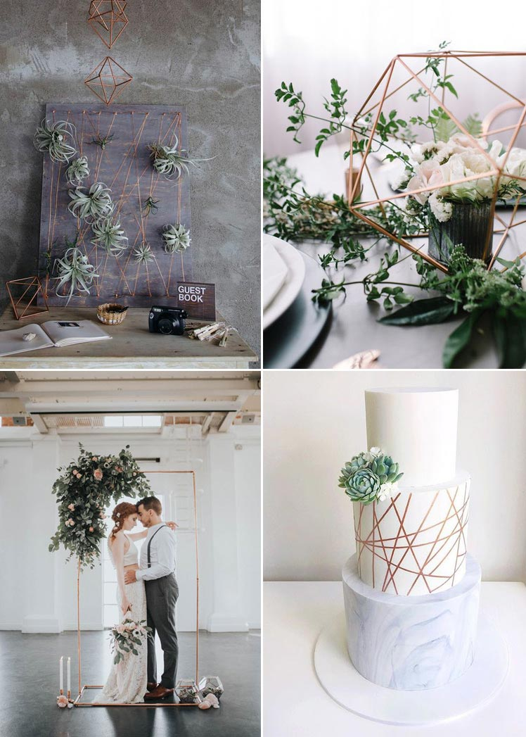 On trend minimalist geometric wedding ideas
