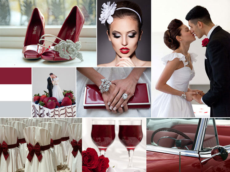Red 1950s Retro Wedding Mood Board