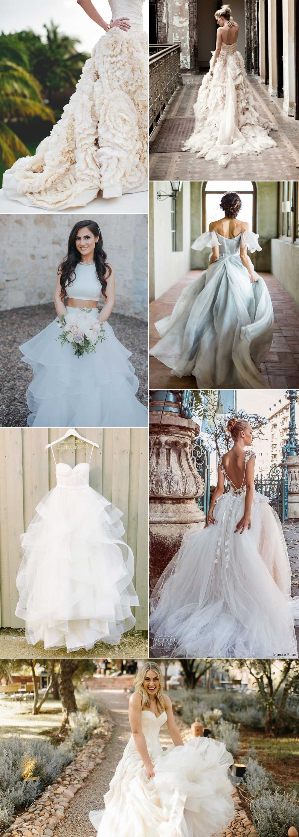Statement tulle wedding dresses