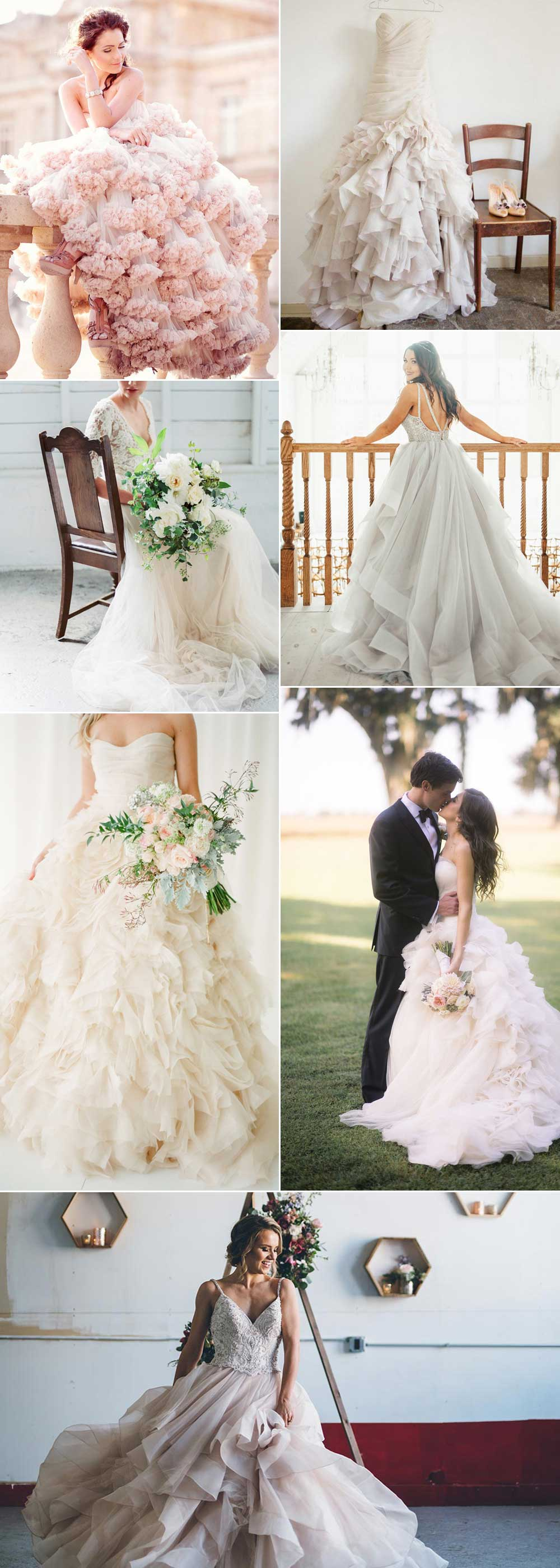 Gorgeous tulle wedding dresses
