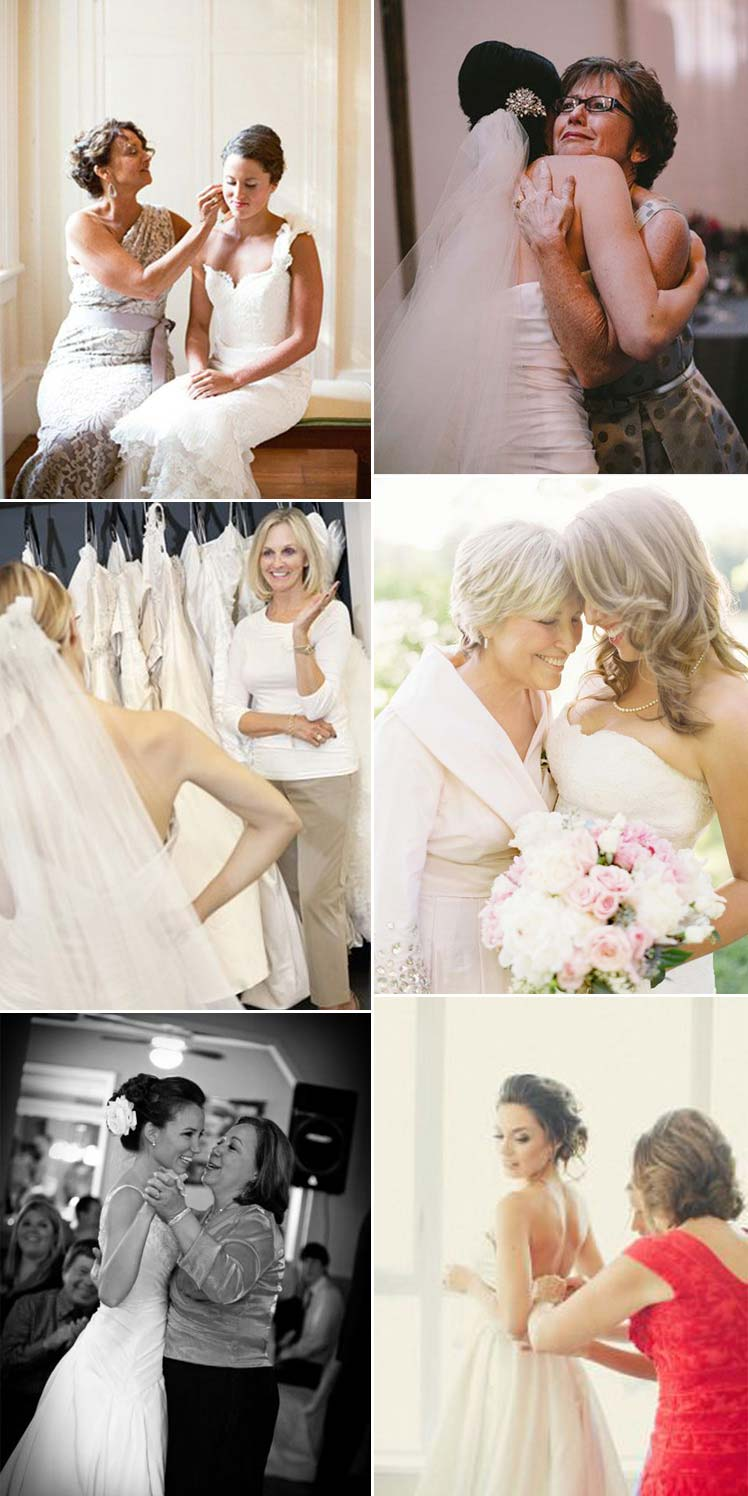 Moments with the bride and her mother on her wedding day