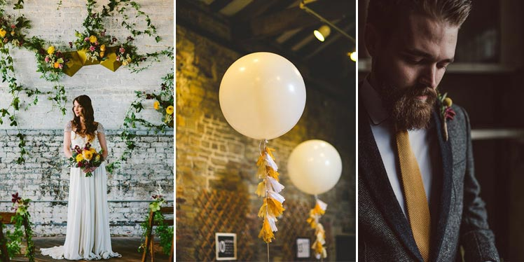 Mustard coloured boho wedding ideas