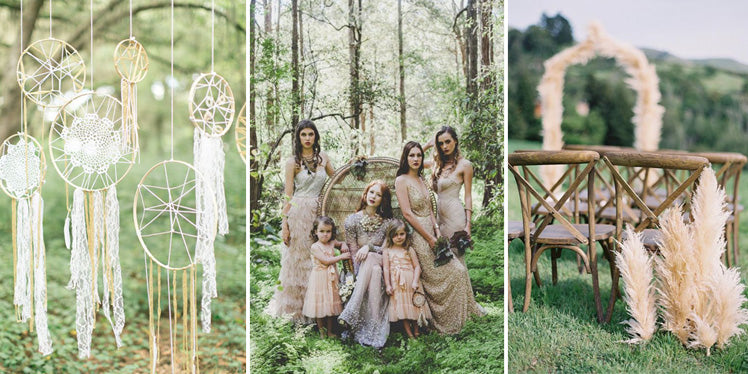 Neutral colour tone boho wedding ideas