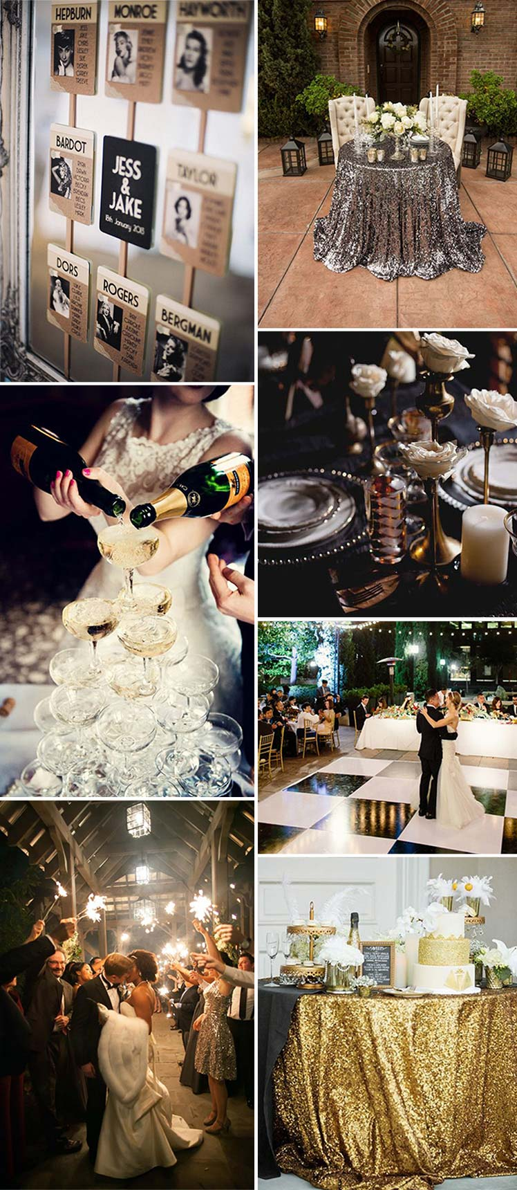 Inspiration for your Hollywood wedding theme