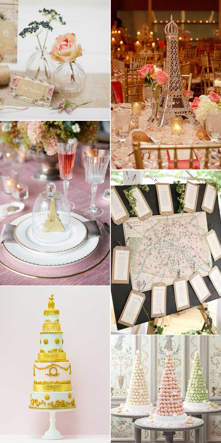 Inspiration for a Parisian style wedding day