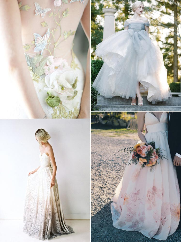 Pastel Wedding Dresses