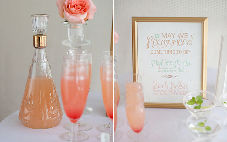 Peach Bellini Cocktails