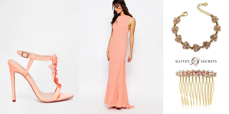 beautiful peach bridesmaid looks