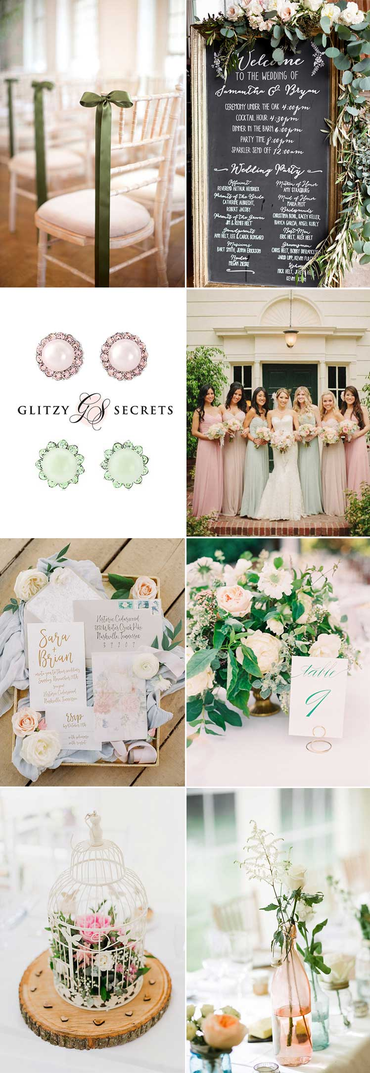 Pastal Pink and green wedding ideas