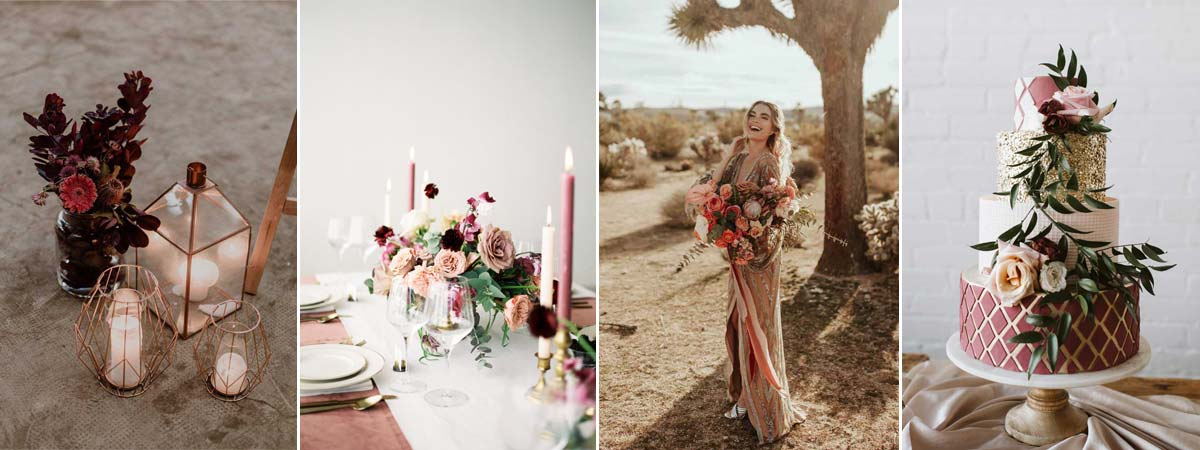 Pink and Rose Gold wedding inspo