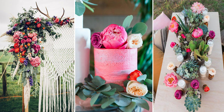 Hot pink boho wedding ideas