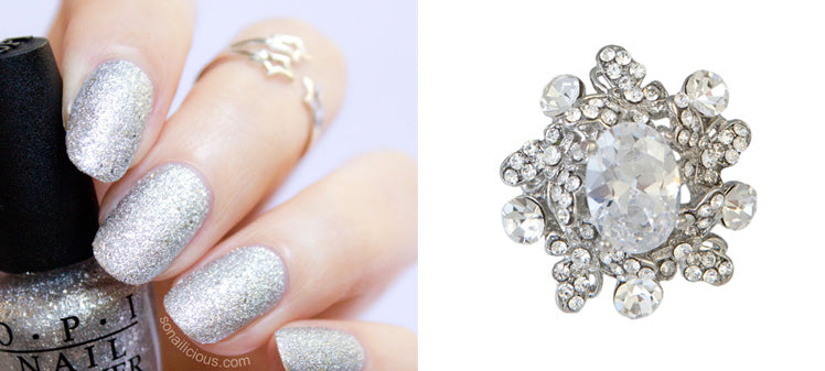Precious Rocks Cocktail Ring by Glitzy Secrets