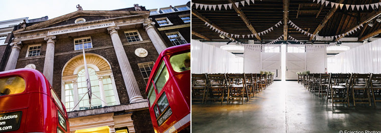 RSA and Trinity Buoy Wharf London wedding venues