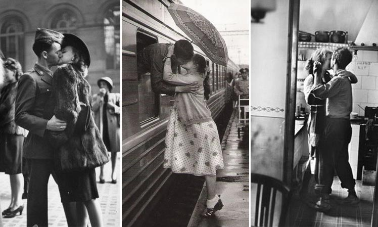 romantic vintage kisses