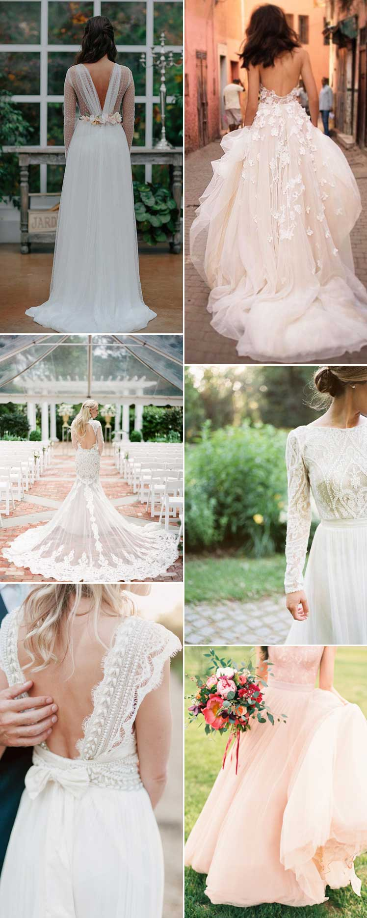 Feminine wedding dress inspiration