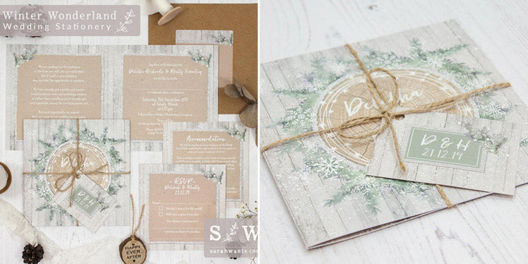 Sarah Wants beautiful Winter Wonderland wedding stationery